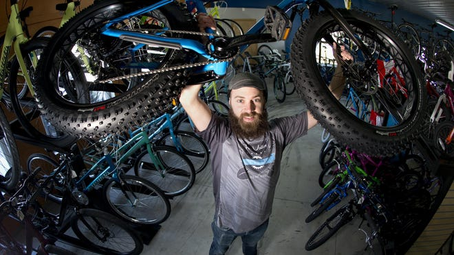 """Josh Ball, treasurer of Fox Valley Mountain Bikers in Appleton, said fat bike sales have increased dramatically over the last two years. On Saturday, fat bikes will hit the ice on Lake Winnebago as part of the """"Sturgeon Spectacular."""""""