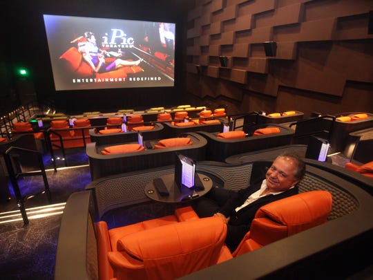 Hamid Hashemi, CEO of iPic Entertainment, sits in one of his company's 16 theaters.