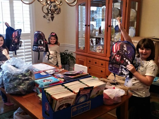 The Hatfield's dining room became an assembly line