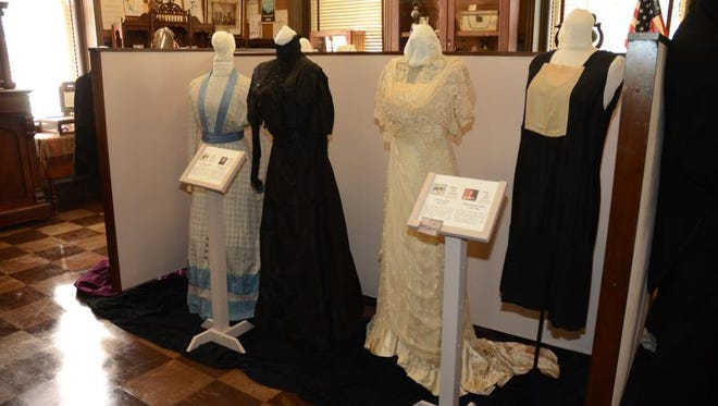 These gowns are representative of the main characters in Downton Abbey, museum officials said.