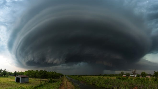 A mothership supercell approaches Iowa Park, Texas, in the spring of 2015.  The photo was submitted to USA TODAY via Your Take at yourtake.usatoday.com