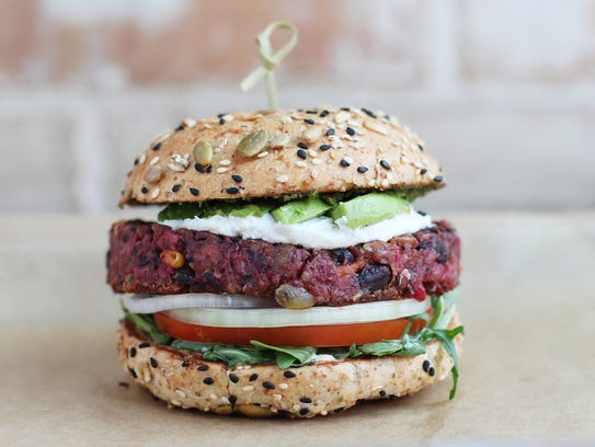 The La Bandita veggie burger at Hopdoddy Burger Bar.