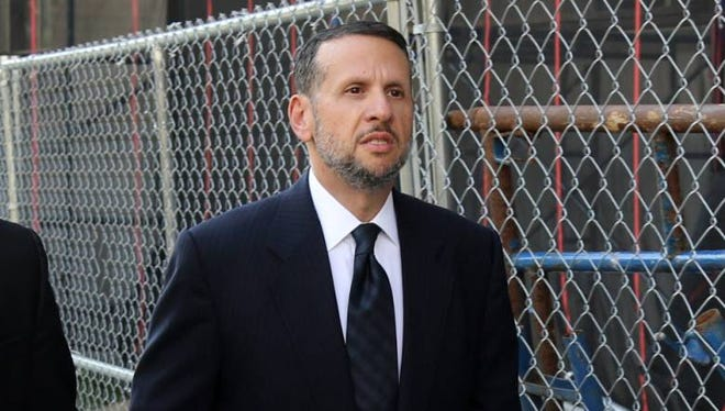 David Wildstein enters federal court in Newark, New Jersey, to testify in the Bridgegate trial on Friday, Sept. 23, 2016.