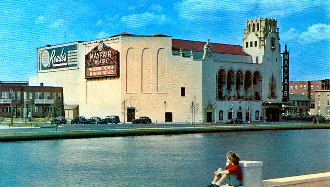 A postcard image of the Mayfair Theatre.