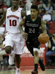 Keifer Sykes, a point guard from UWGB, could be selected late in the second round.