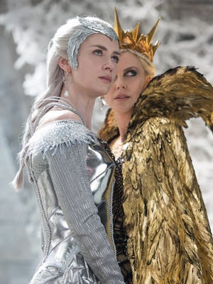 """Emily Blunt and Charlize Theron are powerful sisters in """"The Huntsman: Winter's War."""""""