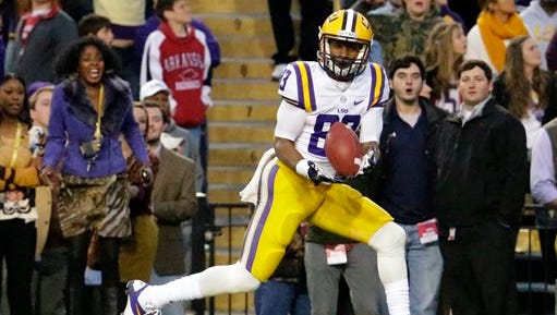 LSU  wide receiver Travin Dural (83) and the Tigers face Ole Miss on Saturday night.