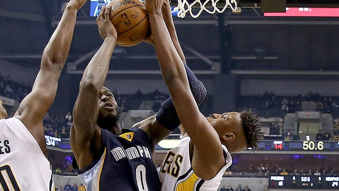 Pacers rookie Myles Turner was impressive in his first regular season action.