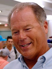 Pensacola Blue Wahoos Manager, Pat Kelly, talks about his team as the Wahoos returned to Pensacola with their arrival Sunday evening at the Pensacola International Airport.
