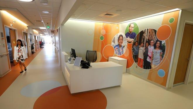 One of the patent floors in Golisano Children's Hospital.