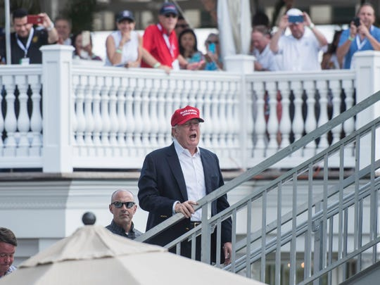 President Donald Trump attended the 72nd U.S. Women's