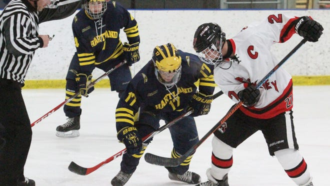 Cooper Jenkins, right, and pictured Wednesday, scored two goals and assisted on the game-winner as Pinckney beat Dexter, 3-2, for its first win.