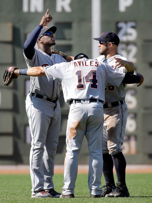Justin Upton, Mike Aviles, Tyler Collins