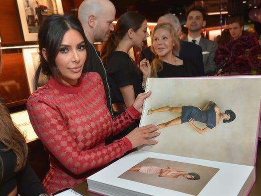TV personality Kim Kardashian attends the Los Angeles