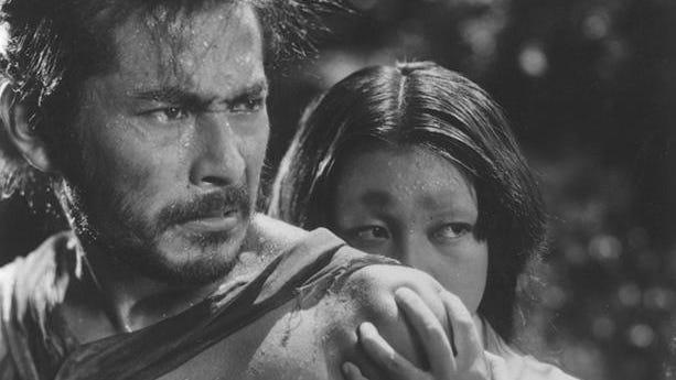 Rashomon (1950 Japan)Directed by Akira KurosawaShown from left: Toshiro Mifune (as Tajomaru), Machiko Kyo