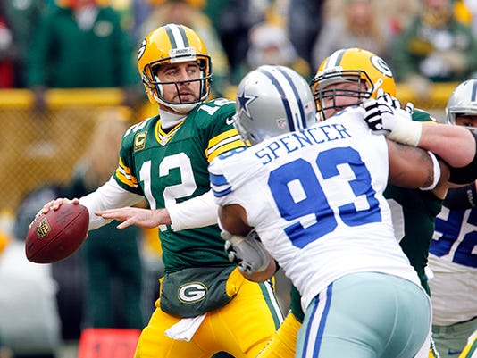 Aaron Rodgers,Anthony Spencer