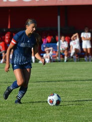 Gull Lake's Reagan Wisser scored twice for the Blue