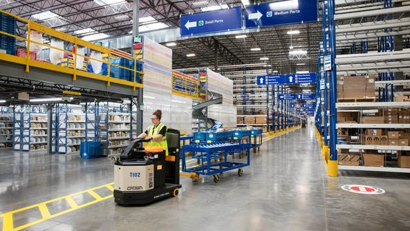 A new Mopar Parts Distribution Center opened in Winchester,