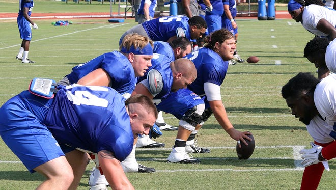 Louisiana Tech holds its first scrimmage Saturday night where the offensive line will be featured in several position battles.