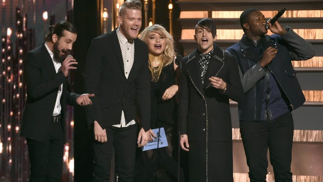 Visalia's Avi Kaplan, from left, Scott Hoying, Kirstin Maldonado, Mitch Grassi and Kevin Olusola, of Pentatonix.
