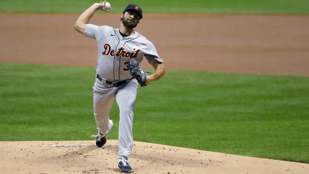 Michael Fulmer pitches on Tuesday against the Milwaukee Brewers.