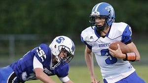 Amherst improved to 6-1 overall and 5-0 in the CWC-Large with a convincing 59-14 win over Pacelli on Friday.