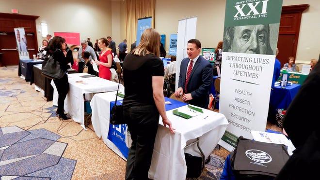 Study hiring has stoked activity at job fairs.