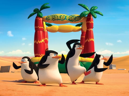 """Private, Skipper, Kowalski and Rico attempt to save their fellow species from a revenge seeking mad scientist in """"The Penguins of Madagascar."""""""