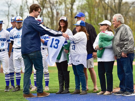 The family of the late Jack Flynn were on hand for a pre-game ceremony prior to the Lakeland-Milford game to honor his memory.