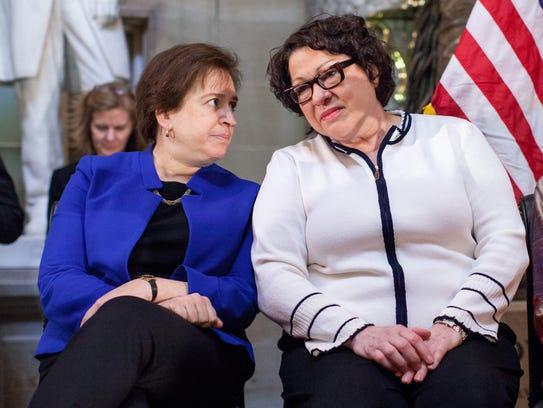 Supreme Court justices Elena Kagan and Sonia Sotomayor