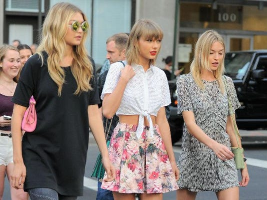 Martha Hunt, Taylor Swift and Gigi Hadid