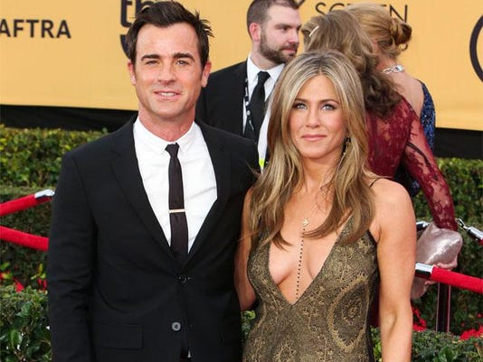 Jennifer Aniston and Justin Theroux at SAG Awards