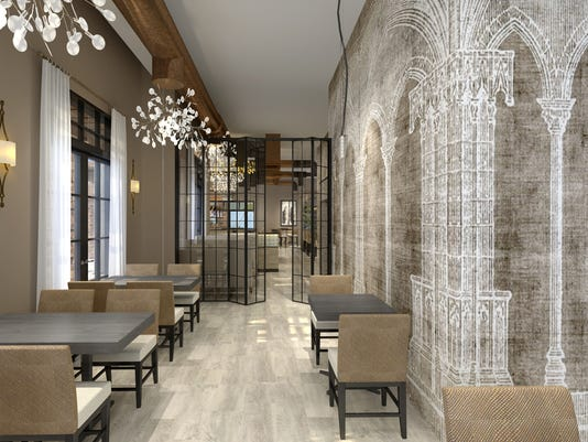 St. Amand decor and seating rendering