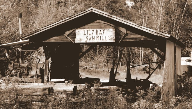 "The Lily Bay sawmill, seen in an undated photo. Clyde ""Hap"" Smith gives a dinner program on Lily Bay history April 23 for the Door County Historical Society."