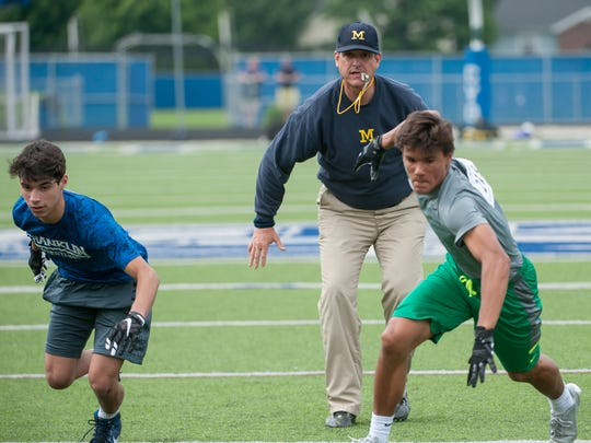 While Jim Harbaugh is getting top talent in Michigan,