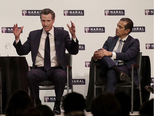 California Lt. Gov. Gavin Newsom and former L.A. Mayor