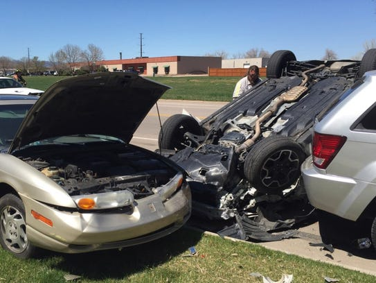 Subaru Flips Into Parked Cars In North Fort Collins