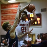 Bennett's Trayshawn Wright drives for a basket against Northern on Wednesday in Salisbury.