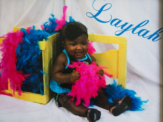 June 14, 2017 - Laylah Washington, 2, died Tuesday