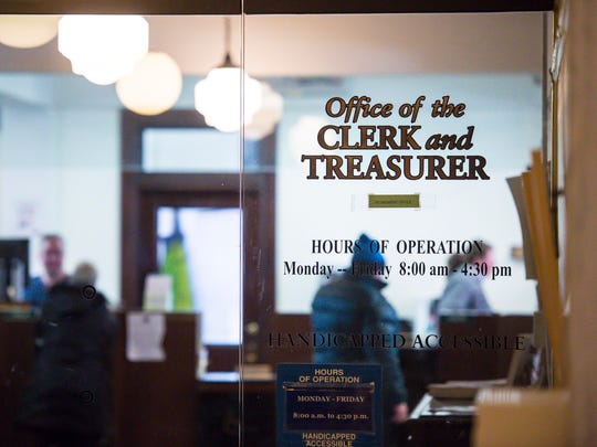 The office of the City Clerk and Treasurer in Burlington