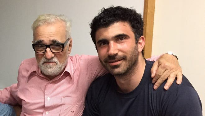 """Director Martin Scorsese of """"Silence"""" (left) and executive producer Matthew Malek, who grew up in metro Detroit. The photo was taken right after filming wrapped on the movie in May 2015."""