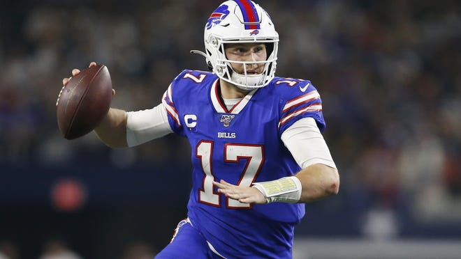 Quarterback Josh Allen was among the Bills in a recent group workout in Florida, which brought big smiles to the team's coaching staff.