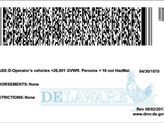 This is what the back of the new enhanced Delaware driver license will look like starting June 4.