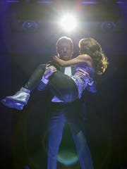 Deborah Cox and Judson Mills in a scene from the musical