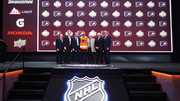 The Flyers selected German Rubtsov at No. 22 in the first round Friday night.