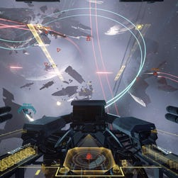A scene from 'EVE: Valkyrie' for the Oculus Rift.