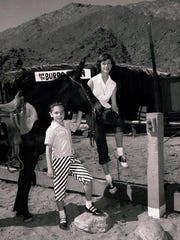 Children waiting to take the Burro Train, circa 1950.