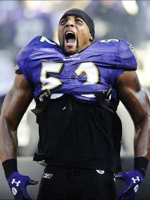 Linebacker Ray Lewis played for both of the Baltimore Ravens' teams to win Super Bowls in 2000 and 2012.