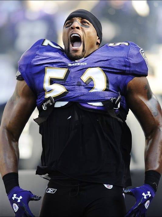 a29fdd6e6d81 Linebacker Ray Lewis played for both of the Baltimore Ravens  teams to win  Super Bowls in 2000 and 2012. (Photo  ASSOCIATED PRESS FILE PHOTO)