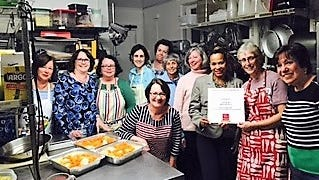 Volunteers from the White Plains Woman's Club cooked for the Lifting Up Westchester soup kitchen.